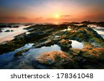 beautiful mossy rocks on the... | Shutterstock . vector #178361048