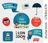 collection of london labels | Shutterstock .eps vector #178361378