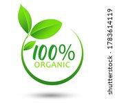 100  organic logo design... | Shutterstock . vector #1783614119