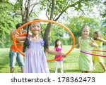children playing with hula... | Shutterstock . vector #178362473