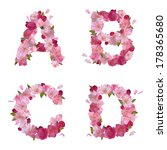 vector spring alphabet with... | Shutterstock .eps vector #178365680