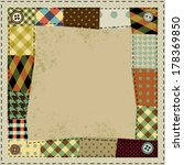 Frame In Patchwork Style....