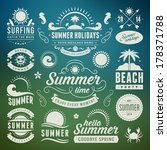 summer design elements and... | Shutterstock .eps vector #178371788