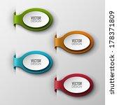 abstract vector banners set  | Shutterstock .eps vector #178371809