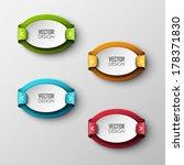 abstract vector banners set  | Shutterstock .eps vector #178371830