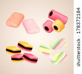 set of bright vector candies | Shutterstock .eps vector #178372184