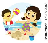 Vector Illustration Of Boy And...