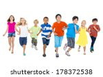 happy diverse multi ethnic... | Shutterstock . vector #178372538