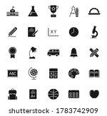 school black vector icons...