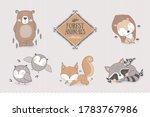 cartoon forest characters... | Shutterstock .eps vector #1783767986