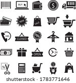 simple shopping icons set.  use ...