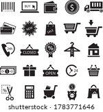simple shopping icons set.  use ...