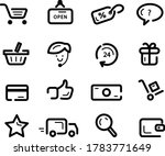simple shopping icons set. use...