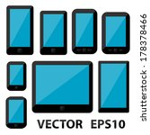 smartphones and tablets. vector ... | Shutterstock .eps vector #178378466