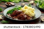 Salisbury Steak With Mushroom...
