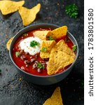 Mexican Chilli Bean Soup With...