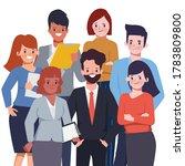 business team work people... | Shutterstock .eps vector #1783809800