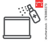 disinfection laptop line icon ... | Shutterstock .eps vector #1783883273