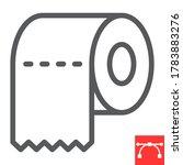 toilet paper line icon  hygiene ... | Shutterstock .eps vector #1783883276