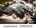 Human Hand In A Motorcycle...