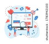 concept for digital marketing... | Shutterstock .eps vector #1783942103