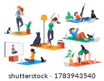 yoga doing activities. yoga... | Shutterstock .eps vector #1783943540