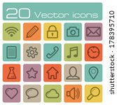 vector icons set | Shutterstock .eps vector #178395710