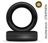illustration of car tire... | Shutterstock .eps vector #178395896