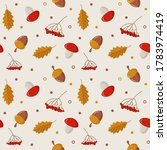 Autumn Seamless Pattern. Fores...