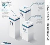design clean number banners... | Shutterstock .eps vector #178397984