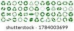 set of green arrow recycle ... | Shutterstock .eps vector #1784003699