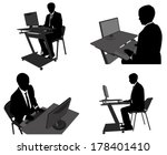 businessman working on his... | Shutterstock .eps vector #178401410