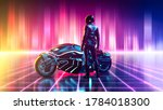 Futuristic Motorbike On A...