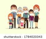 family quarantined. parents ...   Shutterstock .eps vector #1784020343