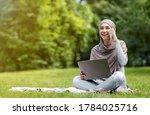 Positive Arab Girl Freelancer...