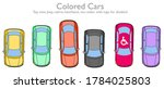 colored cars set. disabled logo.... | Shutterstock .eps vector #1784025803