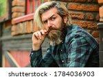 Depressed Bearded Man Checkered ...