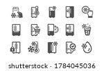 fridge icons set. freezer... | Shutterstock .eps vector #1784045036