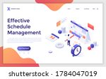 landing page template with man... | Shutterstock .eps vector #1784047019