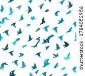 bird watercolor. a flock of... | Shutterstock .eps vector #1784052956