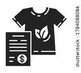 custom clothing black line icon....