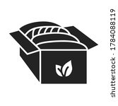 organic fabrics black line icon....