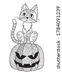Halloween Doodle Coloring Book...