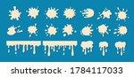 milk drip splatters blob set.... | Shutterstock .eps vector #1784117033