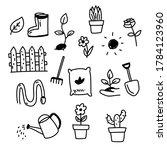 set of garden and flower... | Shutterstock .eps vector #1784123960