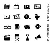set movie and cinema related...   Shutterstock .eps vector #1784126780