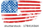 grunge flag of usa | Shutterstock . vector #178414364