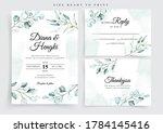 soft eucalyptus on wedding... | Shutterstock .eps vector #1784145416