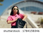 forgetful woman looking for... | Shutterstock . vector #1784158346
