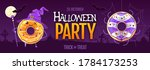 halloween party poster with... | Shutterstock .eps vector #1784173253